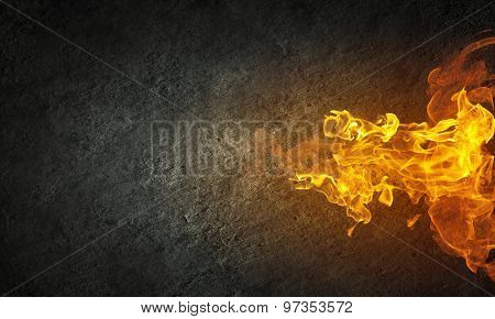 Abstract fiery threads