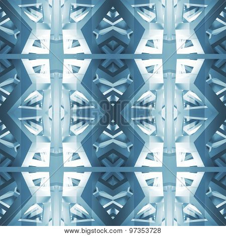 Abstract Geometric Seamless Square Pattern