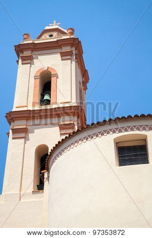 Bell Tower Of Piana Church, Corsica, France