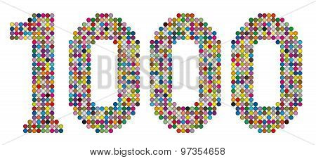 Thousand Balls Dots Points Colors Number White