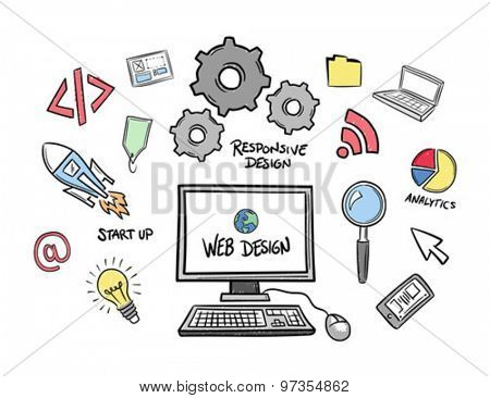 Digitally generated Web design vector