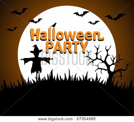 Halloween Party background orange