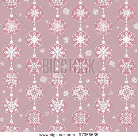 Christmas paper wallpaper with hanging balls pattern