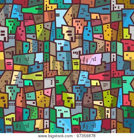 Colorful urban abstract pattern Seamless bright texture
