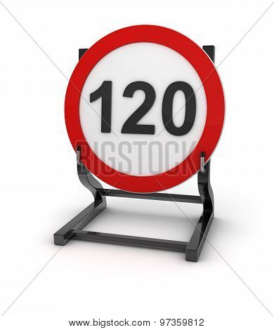 Road Sign - Speed Limit 120