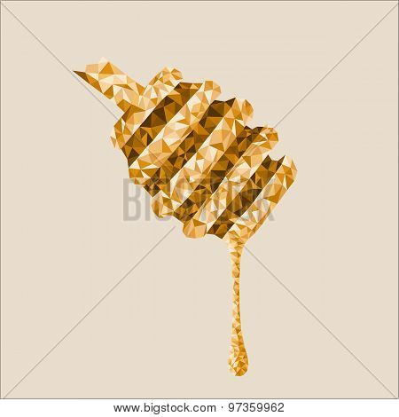 Abstract honey drop with polygon shape