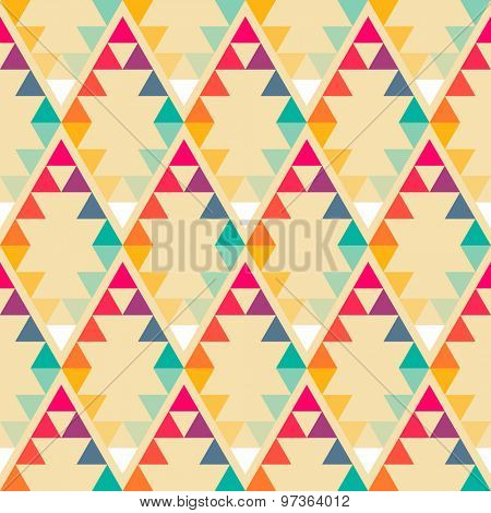 Abstract geometric rhombus triangle seamless pattern