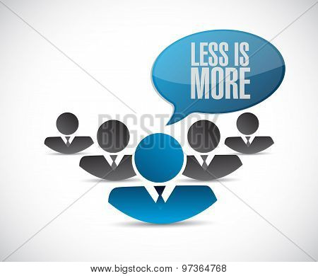 Less Is More People Sign Concept