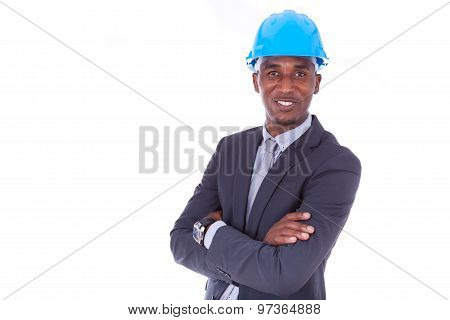 African American Architect Isolated On White Background - Black People
