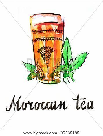 Watercolor Moroccan Tea