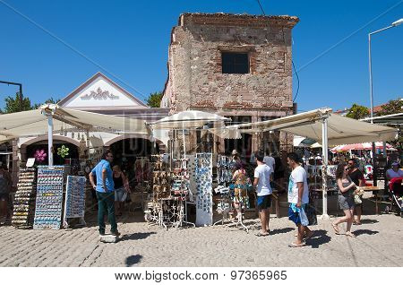 Historic Bazaar and shopping area at Cunda Island
