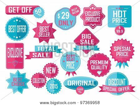 Set of Sale and Best Choice Badges and Labels.