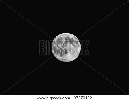 Closeup of full moon, taken on 30 of July 2015