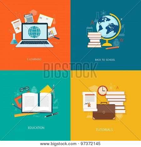 Set Of Flat  Elements Of Education