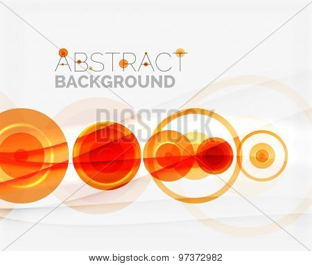 Circle geometric shape composition abstract  background with crumpled paper effect