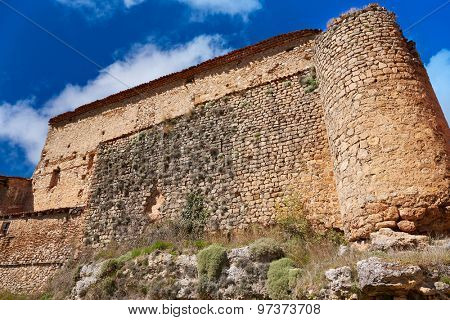 Canete in Cuenca Spain historical masonry wall