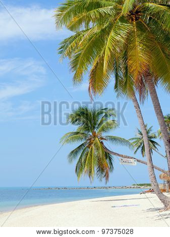 Landmark Of Baan Tai Beach Koh Samui Island,thailand