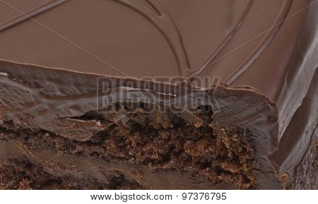Chocolate Cake Topping Background Close Up