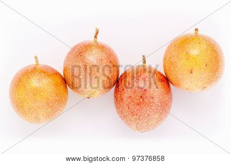 Fresh Passion Fruit Healthy And Refresh Isolate On White Background .