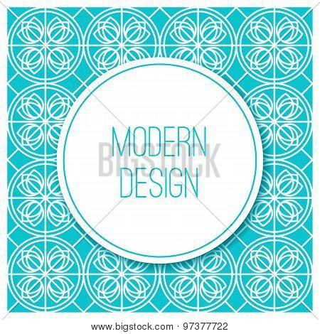 Graphic design vintage frame for logo and badges. Abstract outline patterns.