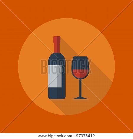Travel Flat Icon. Wine