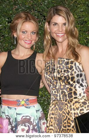 LOS ANGELES - JUL 29:  Candace Cameron Bure, Lori Loughlin at the Hallmark 2015 TCA Summer Press Tour Party at the Private Residence on July 29, 2015 in Beverly Hills, CA