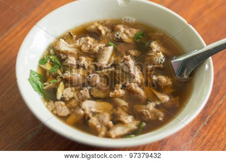 Thai Spicy And Sour Soup Of Beef Entrails