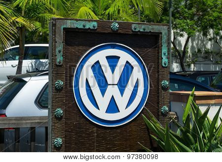 Volkswagen Automobile Dealership And Sign