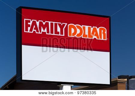 Family Dollar Store And Sign