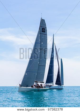 Samui Regatta 2015, Thailand - May 30 : Event At Chaweng Beach ,koh Samui Island ,thailand May 30, 2
