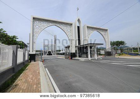 Gate of Puncak Alam Mosque at Puncak Alam, Selangor, Malaysia
