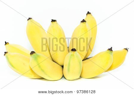 Yellow cultivated banana