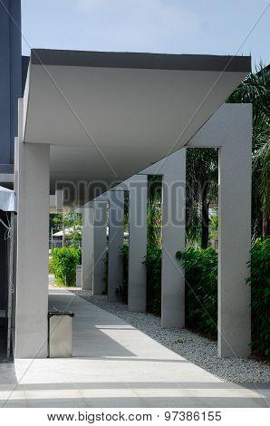 Pedestrian walkway at Puncak Alam Mosque at Puncak Alam, Selangor, Malaysia
