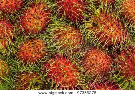 Rambutan fruit background
