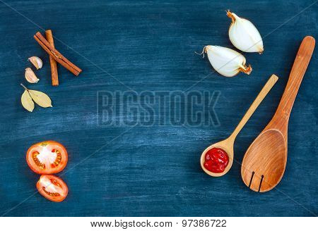 Food Background For Menu Design And Advertising Campaign.