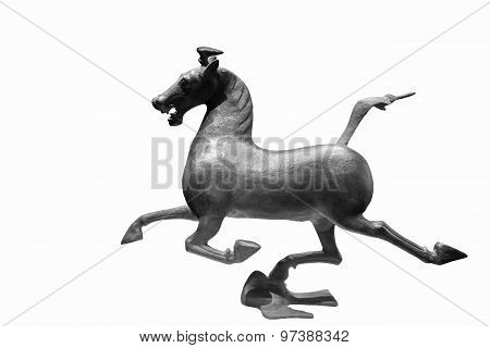 Bronze Horse Isolated
