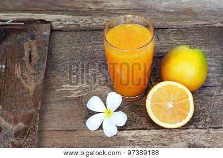 Plumeria And Orange Fruit