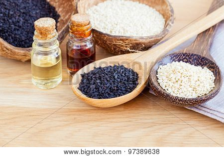 Sesame - Natural Spa Ingrediente For Scrub And  Skin Care.