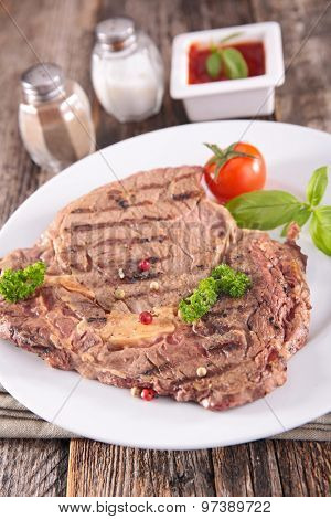grilled beef meat