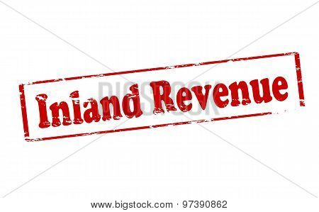 Rubber stamp with text inland revenue inside vector illustration
