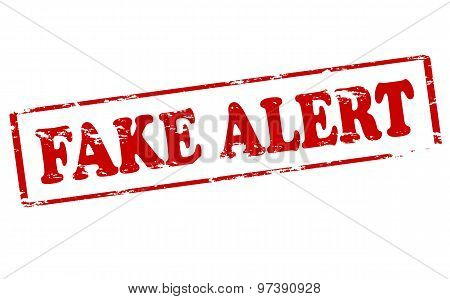 Rubber stamp with text fake alert inside vector illustration