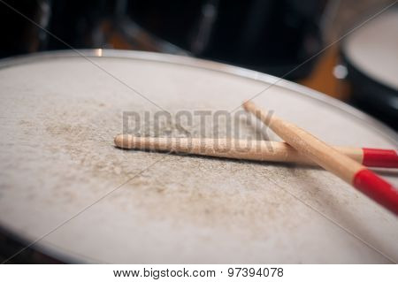 Used Drum Sticks Detail