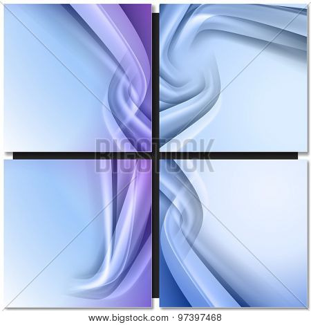 Abstract blue background with swirl