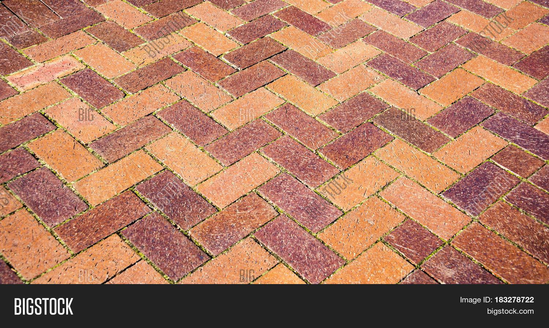 Z Brick Flooring : Z brick floor background image photo bigstock