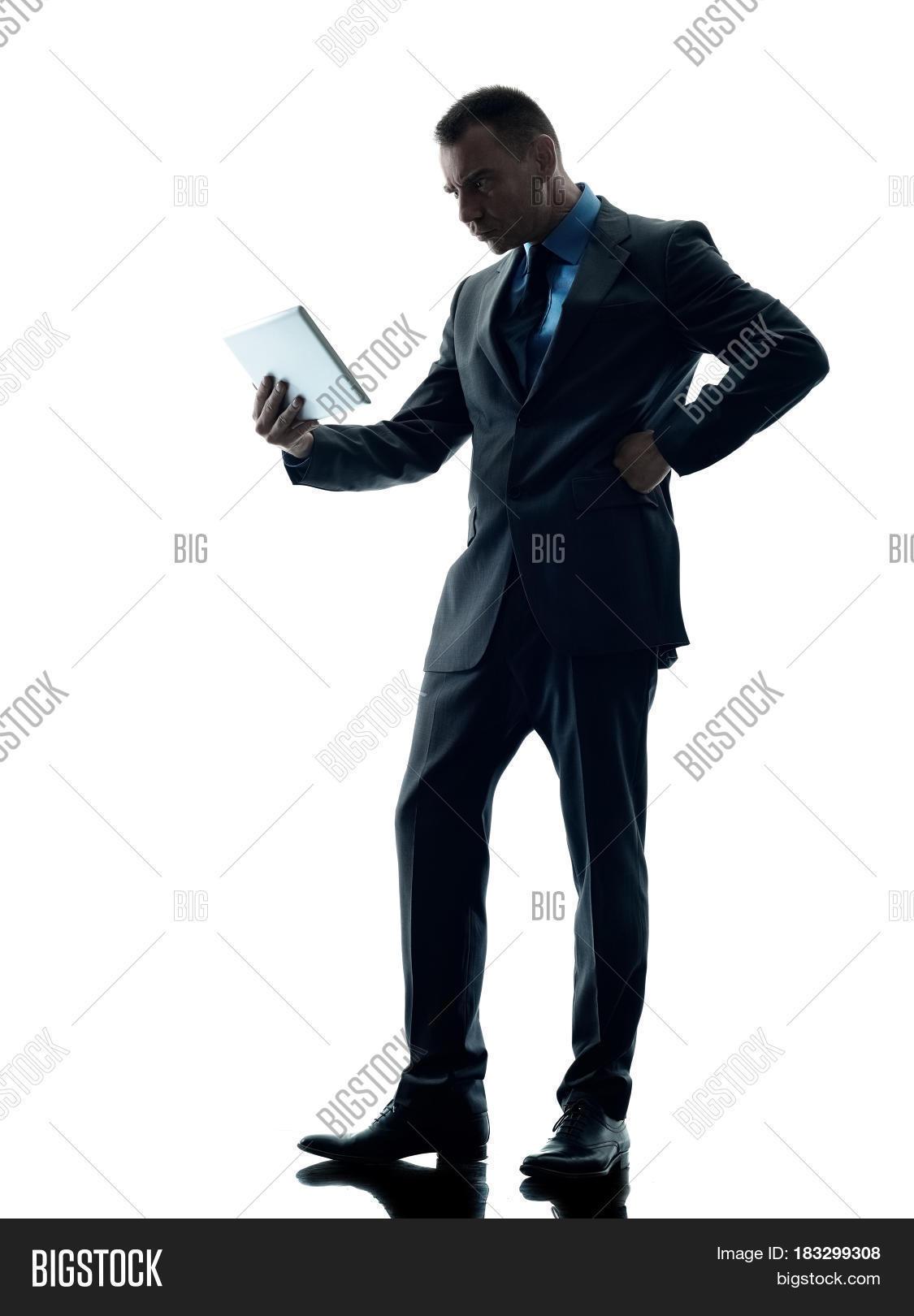 One Caucasian Business Man Standing Image & Photo | Bigstock