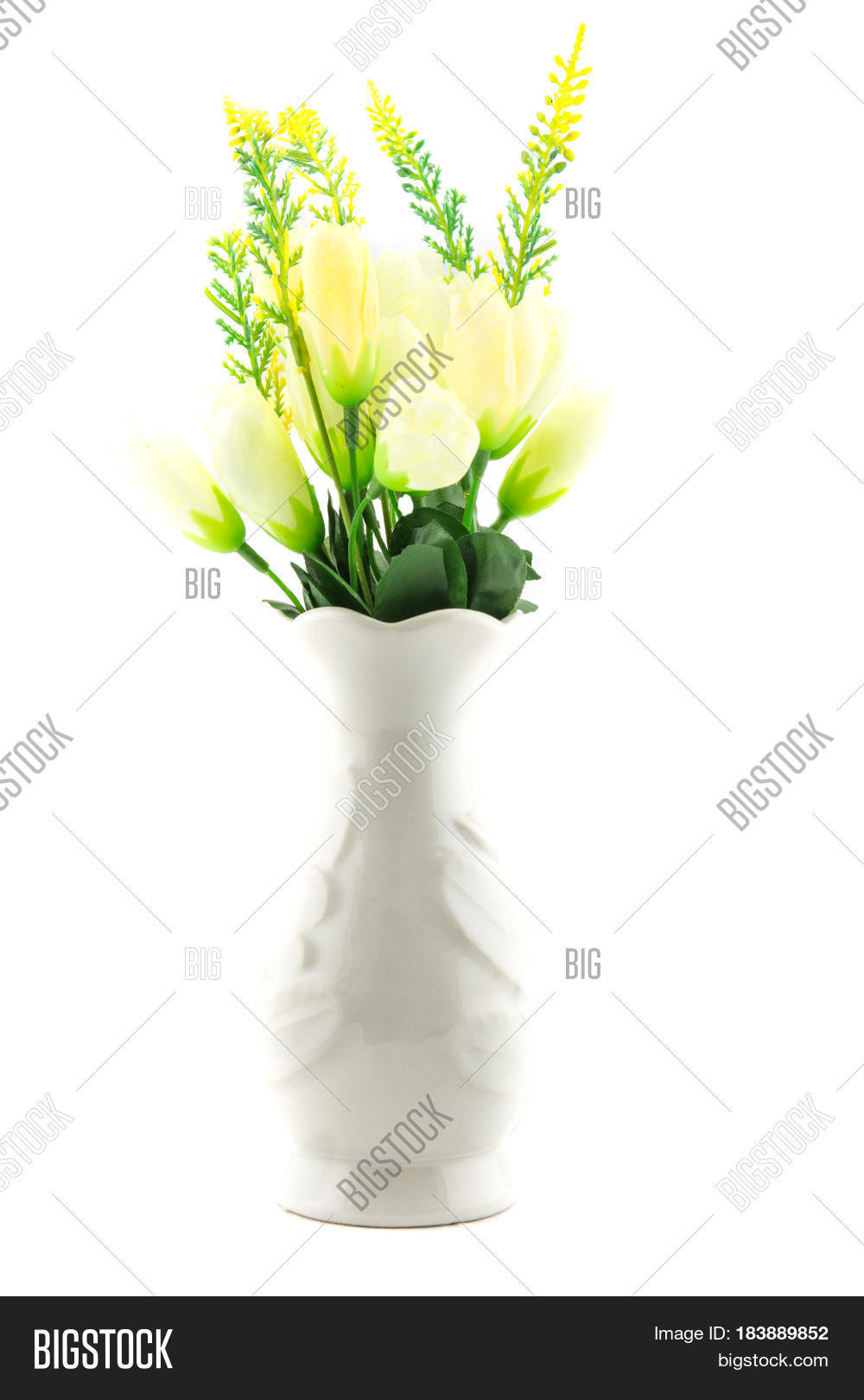 Fake flowers interior decoration image photo bigstock for Artificial plants for interior decoration