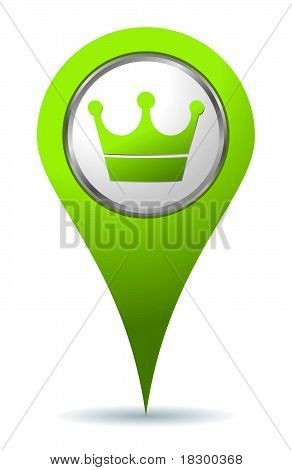 Location Crown Icon