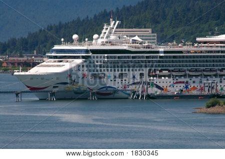 Cruise Ship Docked In Alaska