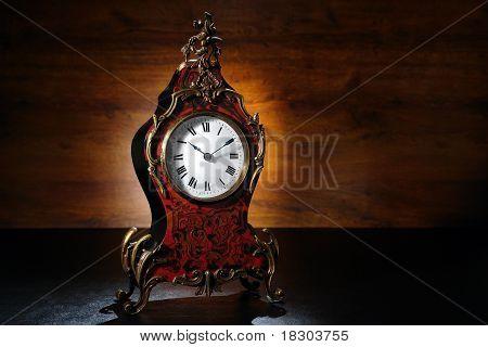 Antique French Tortoiseshell Clock