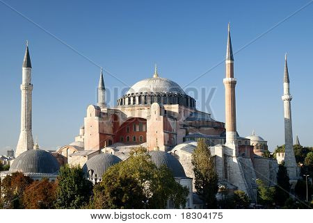 Hagia Sophia Mosque In Instanbul Turkey